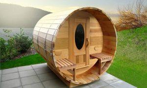 un sauna dans son jardin une installation int ressante. Black Bedroom Furniture Sets. Home Design Ideas